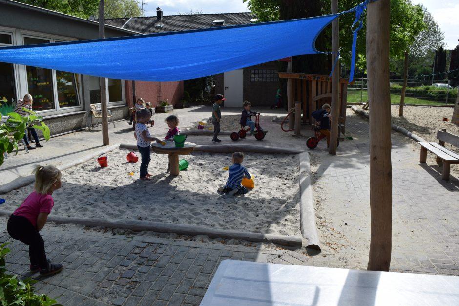 Evangelischer Kindergarten Bermensfeld freut sich über seinen neuen Außenspielbereich