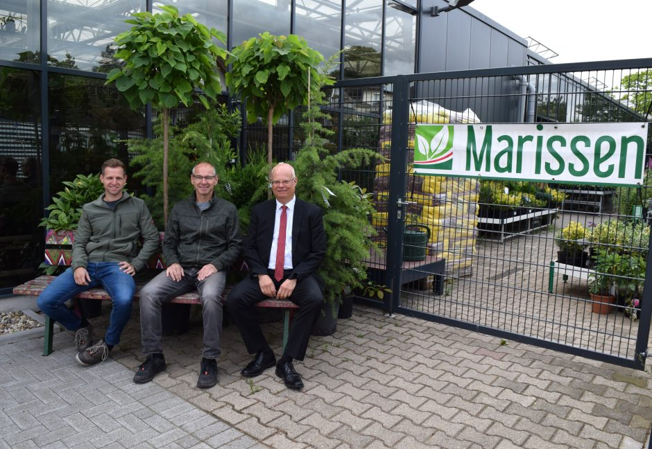 Pflanzenfachwissen in fünfter Generation – seit rund 25 Jahren begleitet die Stadtsparkasse Oberhausen das Gartencenter Marissen als Finanzpartner