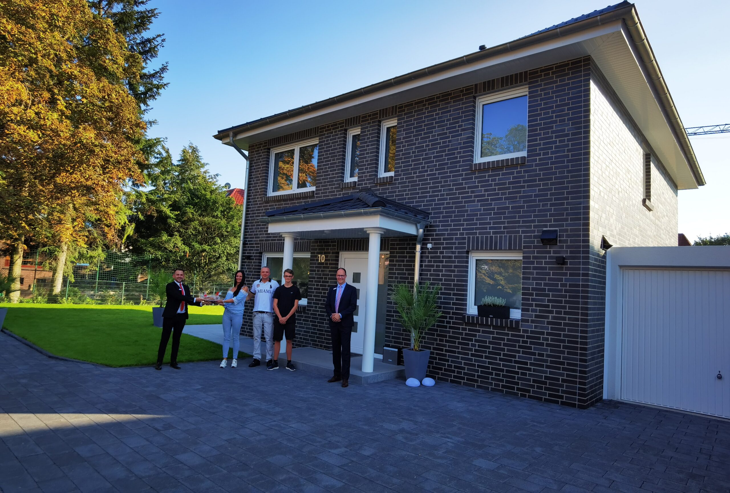 Wohntraum wird Wirklichkeit – Familie Mucha hat sich im Neubaugebiet in Osterfeld ihren Traum vom Eigenheim erfüllt